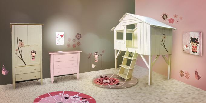 D coration fille pour chambre for Decoration chambre de fille