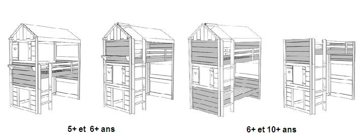 lit cabane mobil wood. Black Bedroom Furniture Sets. Home Design Ideas
