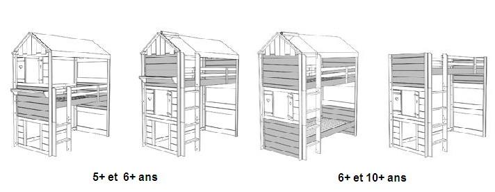 lit cabane mobil wood. Black Bedroom Furniture Sets. Home Design Ideas