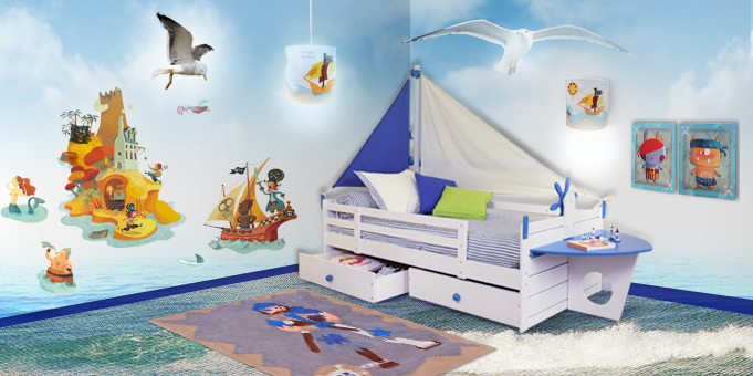 d co chambre pirate mer