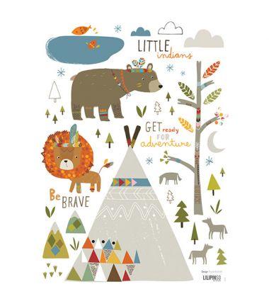 stickers-enfant-petit-indien-lilipinso