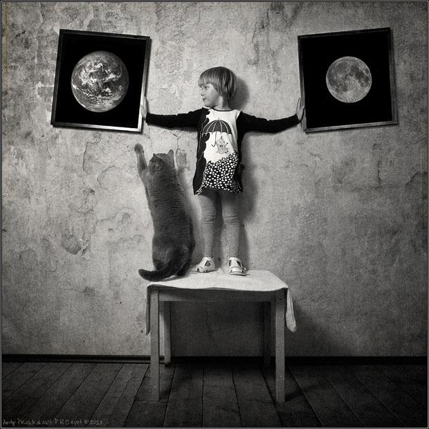Petite fille et son chat3