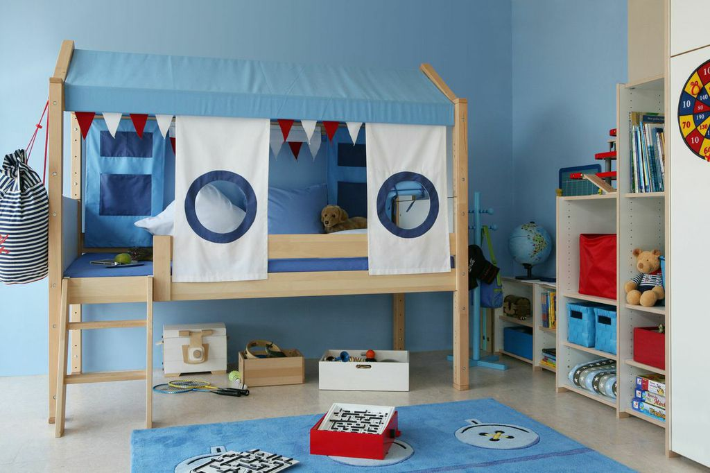lit cabane enfant marin