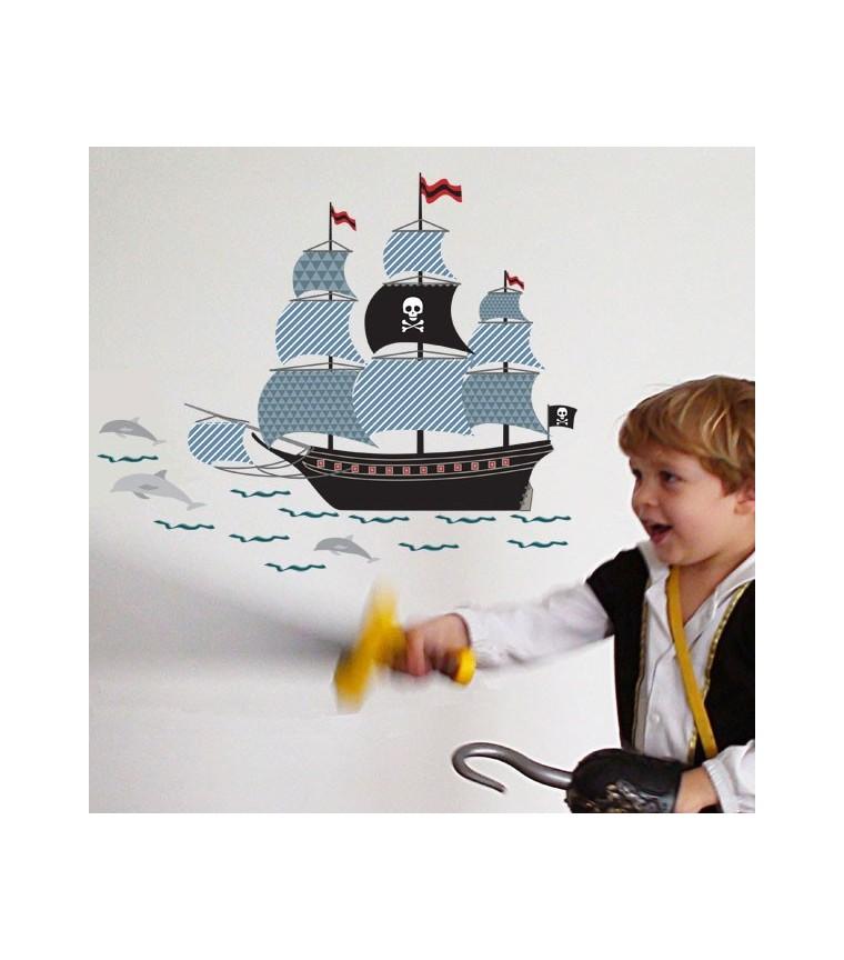 sticker-enfant-bateau-pirate-art-for-kids