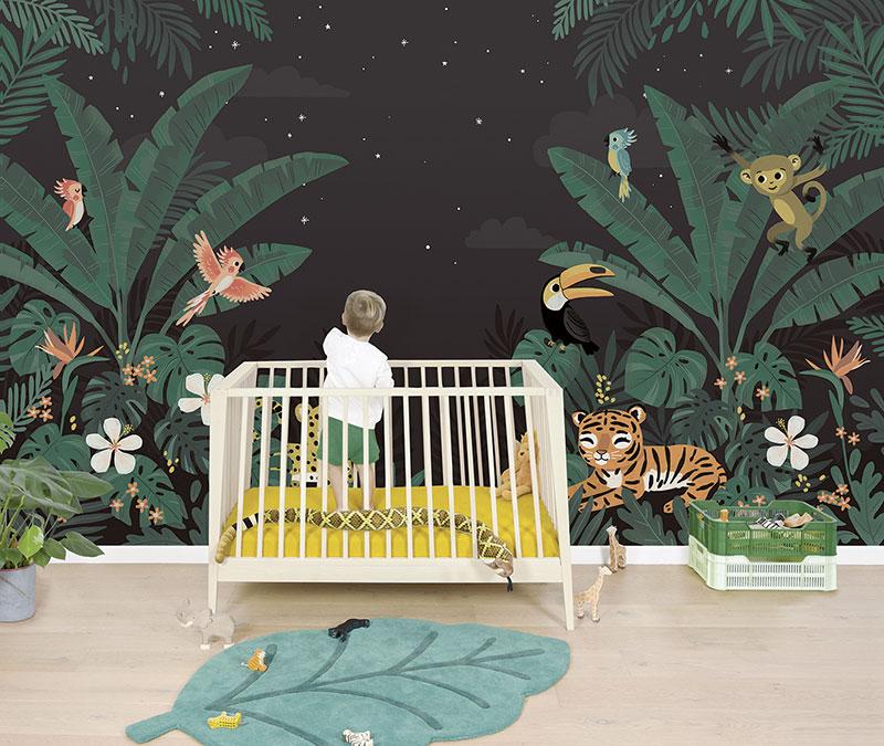 Réaliser une chambre sur le thème de la jungle